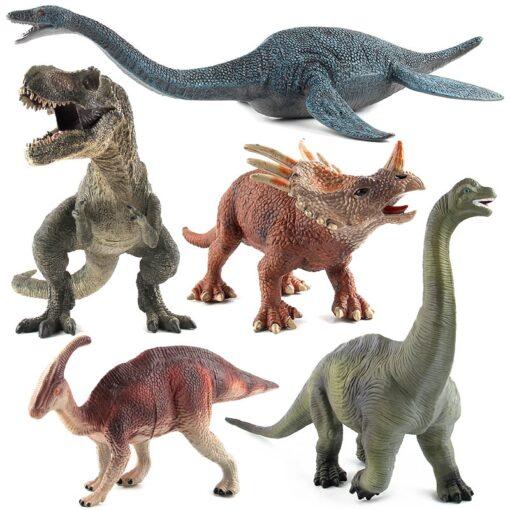 Big Size Dinosaur Toy Plastic Gorilla Toys Dinosaur Model Brachiosaurus Plesiosaur Action Figures Kids Boy Gift
