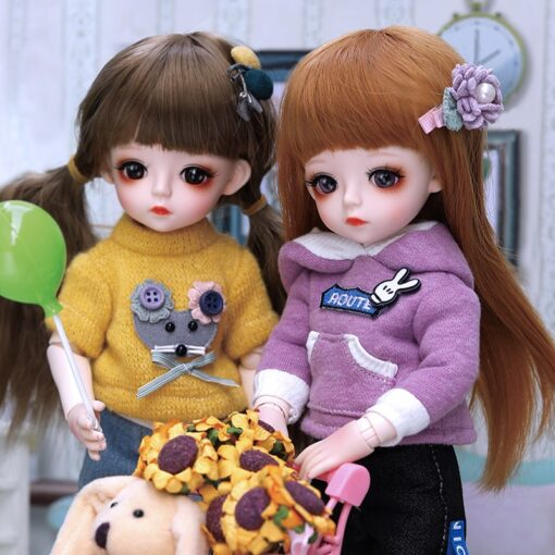 Bjd Doll 30CM Gifts For Girl 18 Joints DIY Dolls With Clothes Best Gifts For Girl 1