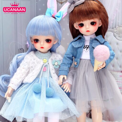 Bjd Doll 30CM Gifts For Girl 18 Joints DIY Dolls With Clothes Best Gifts For Girl