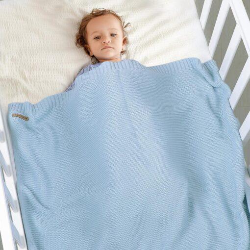 Blankets Newborn Knitted Cotton Super Soft Infant Swaddle Baby Girls Boys Stroller Blanket Cobertor Infantil Wrap 1