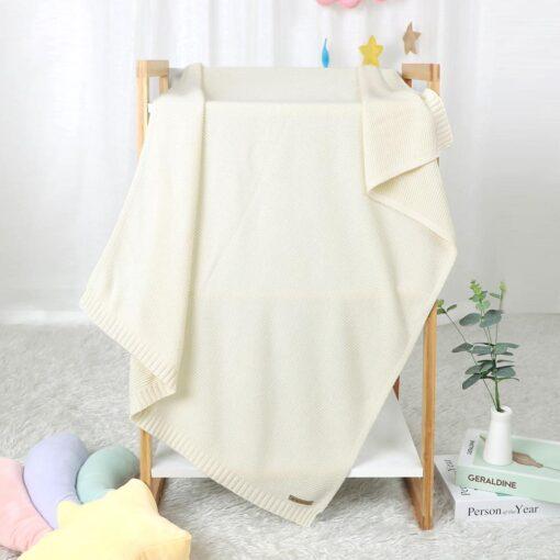 Blankets Newborn Knitted Cotton Super Soft Infant Swaddle Baby Girls Boys Stroller Blanket Cobertor Infantil Wrap 2