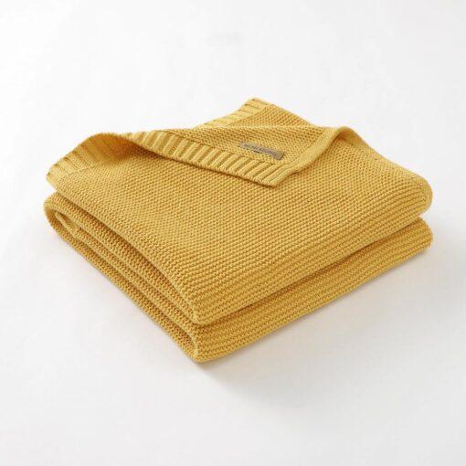 Blankets Newborn Knitted Cotton Super Soft Infant Swaddle Baby Girls Boys Stroller Blanket Cobertor Infantil Wrap 3