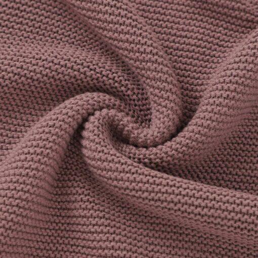 Blankets Newborn Knitted Cotton Super Soft Infant Swaddle Baby Girls Boys Stroller Blanket Cobertor Infantil Wrap 5