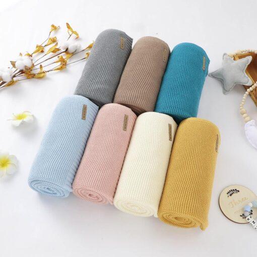 Blankets Newborn Knitted Cotton Super Soft Infant Swaddle Baby Girls Boys Stroller Blanket Cobertor Infantil Wrap
