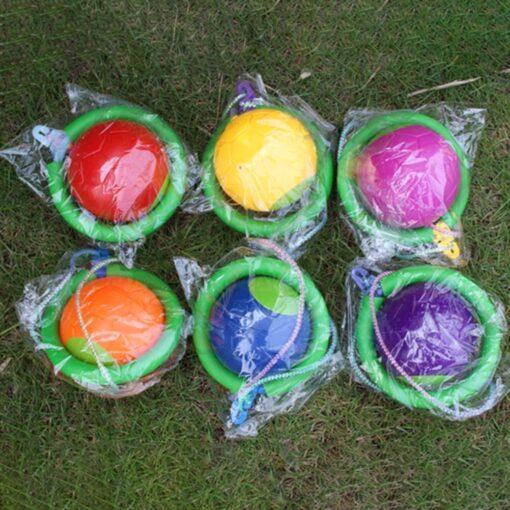 Bouncing Balls One Foot Flashing Skip Ball Jump Ropes Sports Swing Ball Random Color Children Fitness 2