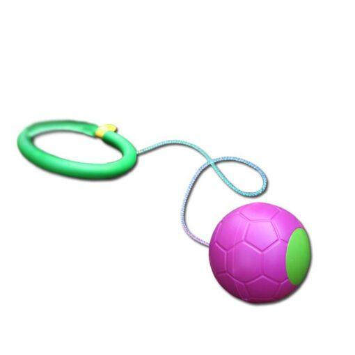 Bouncing Balls One Foot Flashing Skip Ball Jump Ropes Sports Swing Ball Random Color Children Fitness 3