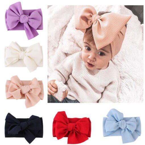 Brand New Newborn Toddler Baby Girls Head Wrap Rabbit Big Bow Knot Turban Headband Hair Accessories 1