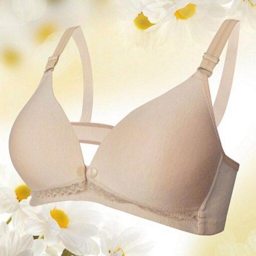 Breast Feeding Cotton Maternity Nursing Bras Sleep Bra For Feeding Pregnant Women Soutien Gorge Allaitement Underwear 3