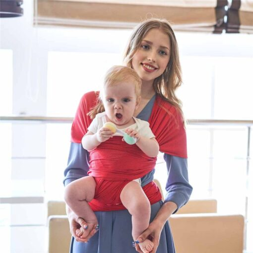Breathable Baby Sling Carrier Wrap Scarf Nylon Backpack Ergonomic Bebe Canguro para Infant for Summer Accessories 3