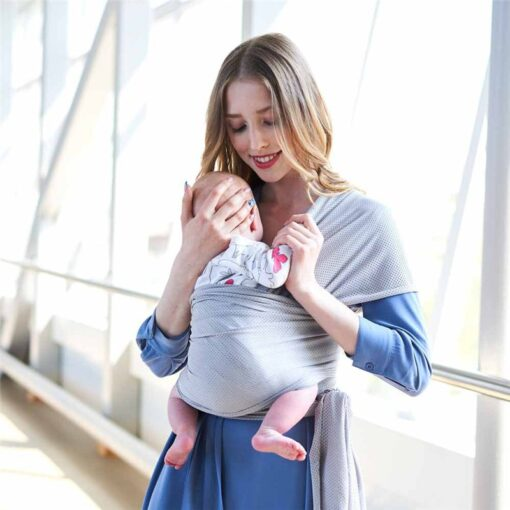 Breathable Baby Sling Carrier Wrap Scarf Nylon Backpack Ergonomic Bebe Canguro para Infant for Summer Accessories 4