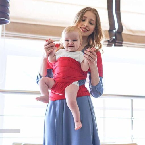 Breathable Baby Sling Carrier Wrap Scarf Nylon Backpack Ergonomic Bebe Canguro para Infant for Summer Accessories 5