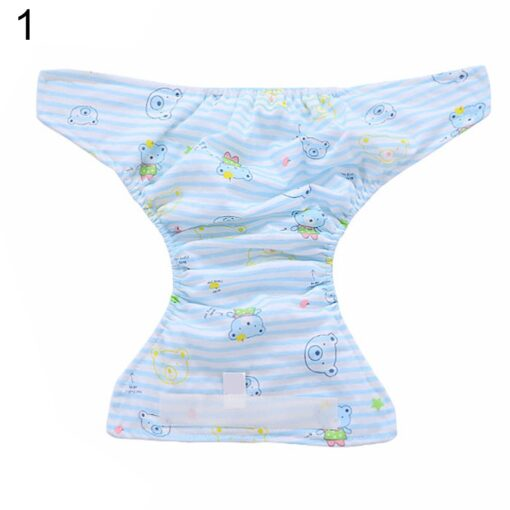 Breathable Newborn Diaper Baby Adjustable Washable Reusable Soft Cotton Nappy Cover Cloth Diaper Waterproof Magic Tape 1