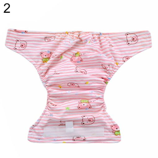 Breathable Newborn Diaper Baby Adjustable Washable Reusable Soft Cotton Nappy Cover Cloth Diaper Waterproof Magic Tape 4