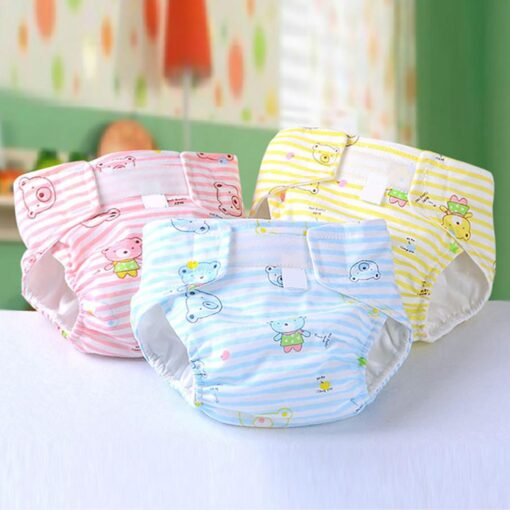 Breathable Newborn Diaper Baby Adjustable Washable Reusable Soft Cotton Nappy Cover Cloth Diaper Waterproof Magic Tape