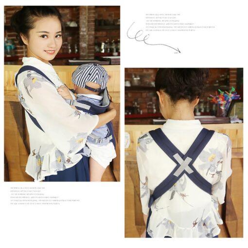 Breathable Newborn Infant Baby Simple Toddler Cradle Pouch Sling Carrier Comfortable Baby Carrier Adjustable Shoulder Belt 10