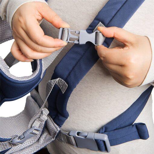 Breathable Newborn Infant Baby Simple Toddler Cradle Pouch Sling Carrier Comfortable Baby Carrier Adjustable Shoulder Belt 9