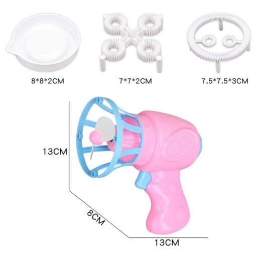 Bubble Blower Machine Toy Kids Soap Water Bubble Gun Cartoon Water Gun Gift For Kids Children 4