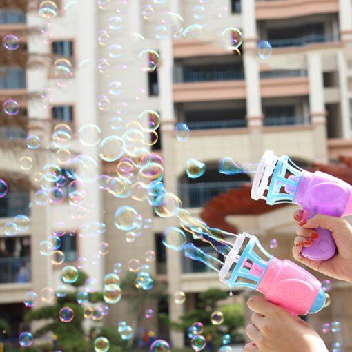 Bubble Blower Machine Toy Kids Soap Water Bubble Gun Cartoon Water Gun Gift For Kids Children