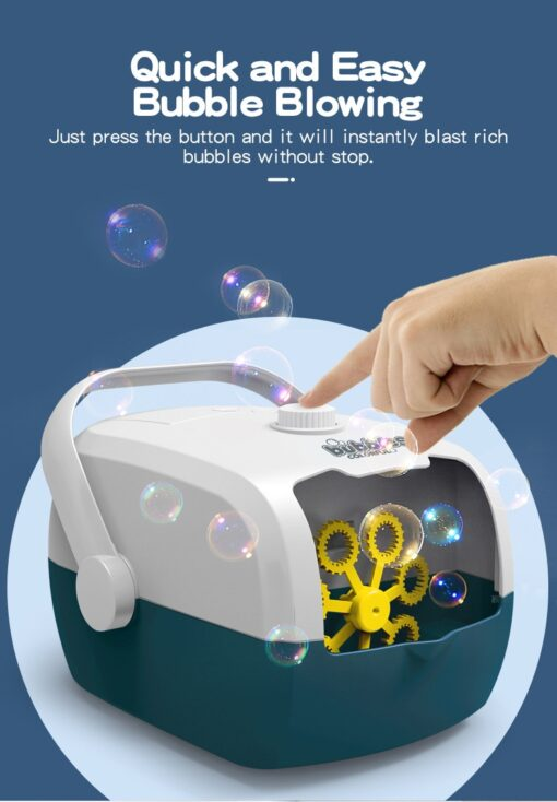 Bubble Machine Automatic Bubble Blower Party Birthday Wedding Bubble Maker Summer Outdoor Toy One click Bubble 1