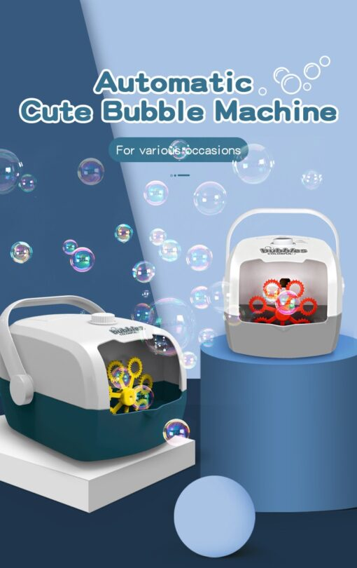 Bubble Machine Automatic Bubble Blower Party Birthday Wedding Bubble Maker Summer Outdoor Toy One click Bubble