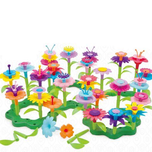 Building Toys Bouquet Floral Arrangement Block Playset Garden Building Toy Arrangement Educational Toy Kids Flower Interlo 10