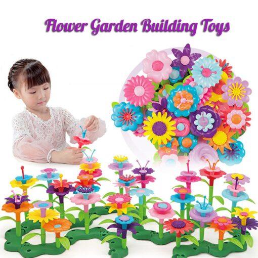 Building Toys Bouquet Floral Arrangement Block Playset Garden Building Toy Arrangement Educational Toy Kids Flower Interlo 6