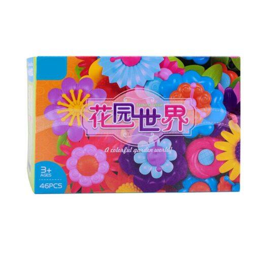 Building Toys Bouquet Floral Arrangement Block Playset Garden Building Toy Arrangement Educational Toy Kids Flower Interlo 7