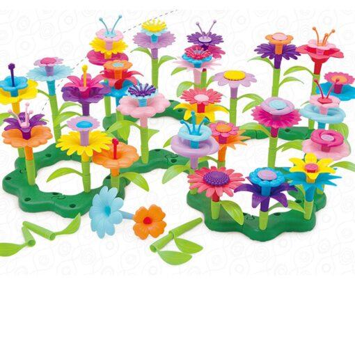 Building Toys Bouquet Floral Arrangement Block Playset Garden Building Toy Arrangement Educational Toy Kids Flower Interlo 9