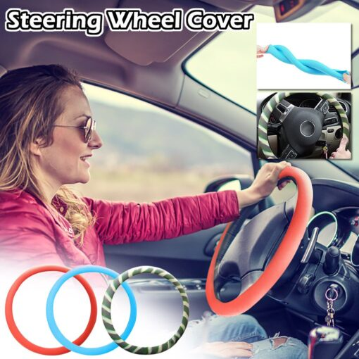 Car Decoration Anti skid Wear resistant Silicone Steering Wheel Cover 6