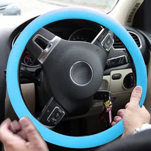 Car Decoration Anti skid Wear resistant Silicone Steering Wheel Cover 8