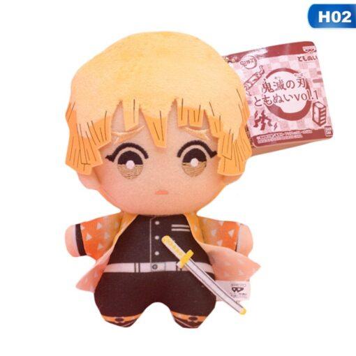 Cartoon 15cm Anime Demon Slayer Plush Toys Doll Kimetsu No Yaiba Agatsuma Zenitsu Nezuko Hashibira Figure 5