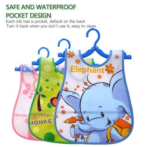 Cartoon Animal Printed Baby Bibs EVA Waterproof Newborn Bandanas Feeding Baby Burp Cloths Girls Boys Saliva