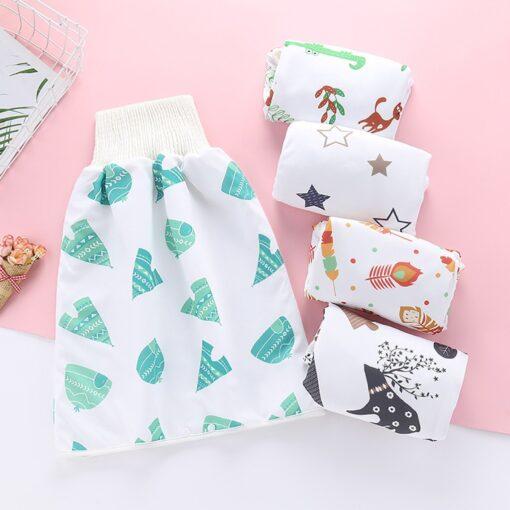 Cartoon Baby Diaper Skirt Baby Waterproof Cloth Diaper Leak proof Mattress Washable Cotton Children Urine proof