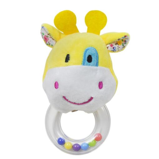 Cartoon Baby Plush Rattle Ring Bell Animal Hand Bell Baby Crib Mobile Bed Educational Plush Rattle 3