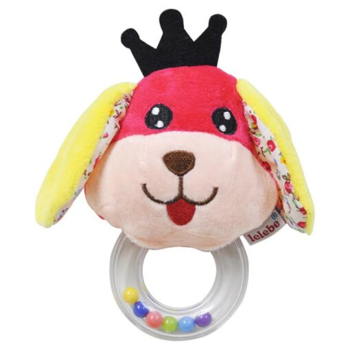 Cartoon Baby Plush Rattle Ring Bell Animal Hand Bell Baby Crib Mobile Bed Educational Plush Rattle 4