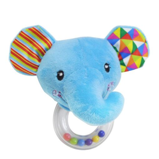 Cartoon Baby Plush Rattle Ring Bell Animal Hand Bell Baby Crib Mobile Bed Educational Plush Rattle 5