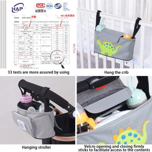 Cartoon Baby Stroller Organizer Bag Baby Pushchair Diaper Nappy Bag Pram Organizer Mom Travel Bags Stroller 5