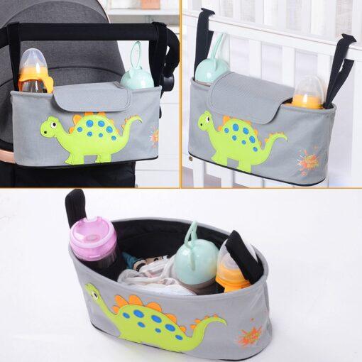 Cartoon Baby Stroller Organizer Bag Baby Pushchair Diaper Nappy Bag Pram Organizer Mom Travel Bags Stroller