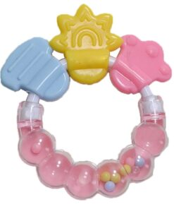Cartoon Baby Teether Educational Mobiles Toys Teeth Biting Baby Rattle Toy Bed Bell Silicone Handbell Jingle 2