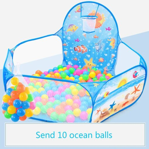 Cartoon folding indoor ocean ball pool layout fence baby game house children s tent color wave 1