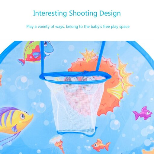 Cartoon folding indoor ocean ball pool layout fence baby game house children s tent color wave 2