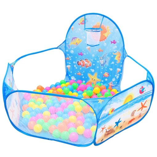 Cartoon folding indoor ocean ball pool layout fence baby game house children s tent color wave 3