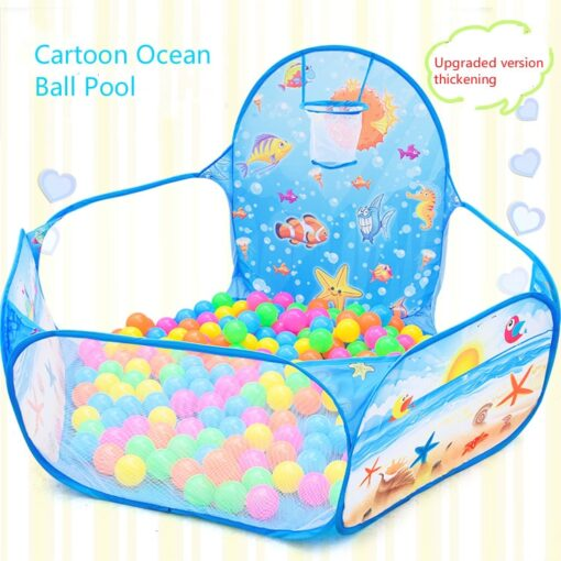 Cartoon folding indoor ocean ball pool layout fence baby game house children s tent color wave
