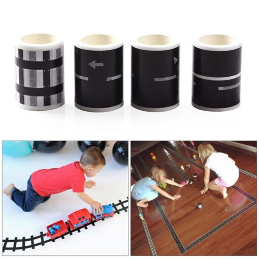 Ccreative DIY Traffic Road Railway Removable Track Floor Stickers Car Play Kids Room Decoration Wall Sticker 4