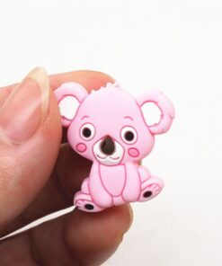 Chenkai 10pcs Silicone Teether Beads DIY Unicorn Star Penguin Flower Koala Flamingo Baby Teething Sensory Jewelry 3