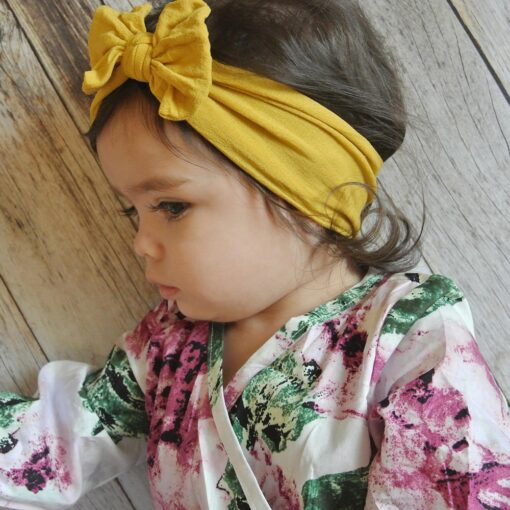 Child Baby headband turban For Girl newborn Toddler Turban Knot Kids Turbans newborn baby girl headbands 1