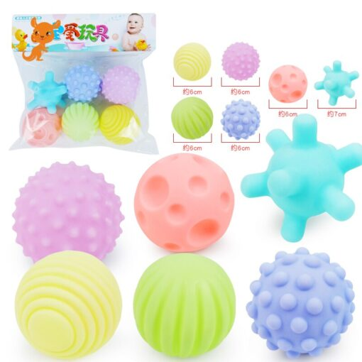 Children Ball Textured Multi DevelopTactile Senses Toy Baby Touch Hand Teether Ball Training Massage Soft Stress