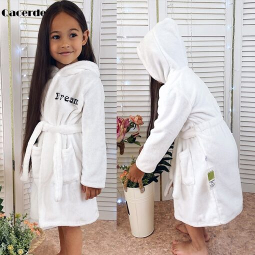 Children Bath Robes Flannel Winter Kids Sleepwear Robe Infant Pijamas Nightgown For Boys Girls Pajamas 10 2