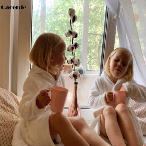 Children Bath Robes Flannel Winter Kids Sleepwear Robe Infant Pijamas Nightgown For Boys Girls Pajamas 10 3