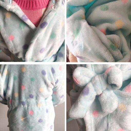 Children Bath Robes Flannel Winter Kids Sleepwear Robe Infant Pijamas Nightgown For Boys Girls Pajamas 10 5